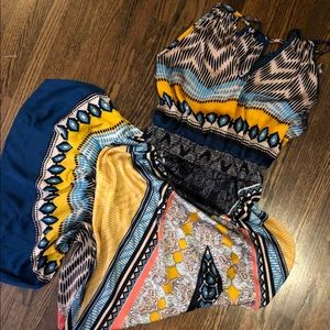 Maxi Dress, Lovely Multicolored Pattern